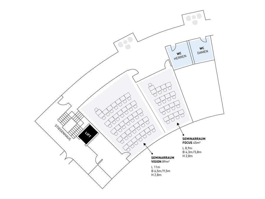 Lageplan Seminarraum