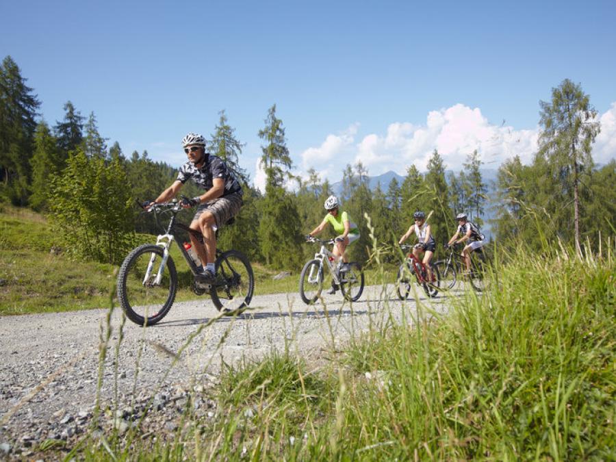Mountainbiken in Bludenz, Vorarlberg