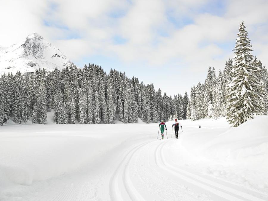 Langlaufen in Bludenz, Vorarlberg