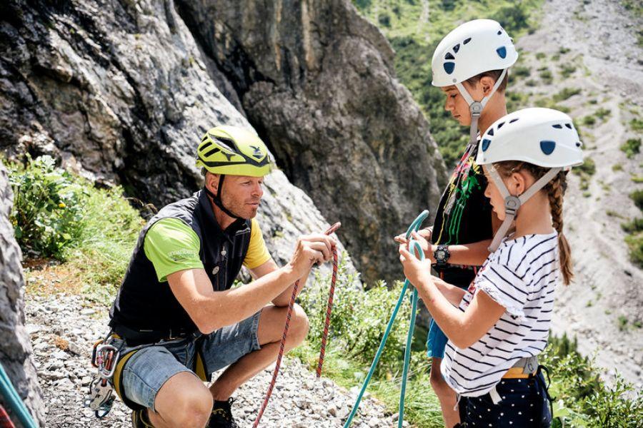 Klettern in Bludenz Umgebung in den Bergen